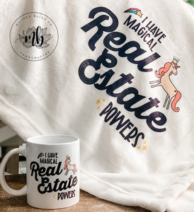Real Estate Realtor Mug + Blanket | Realtor Mug | Home Seller Blanket | Realtor Closing Gift | Ceramic and Dishwasher Safe | Customizable