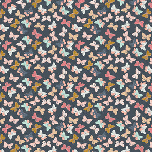 Mothlike Shadows Deep From Nightfall | Cotton Fabric by the Yard by Art Gallery | Sold by 1/4 yard Cut Continuously | 100% Cotton Fabric