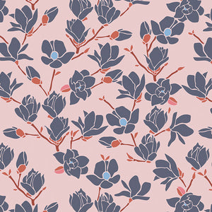 Magnolia Sunset From Charleston | Cotton Fabric by the Yard by Art Gallery | Sold by 1/4 yard Cut Continuously | 100% Cotton Fabric