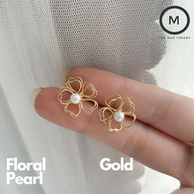 Load image into Gallery viewer, Pearl Floral Earring (Backorder)