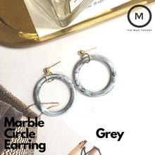 Load image into Gallery viewer, Marble Circle Earring