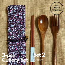 Load image into Gallery viewer, 3pcs-Cutlery Set (Floral Edition)