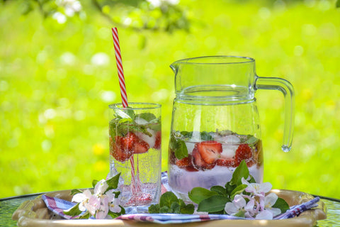 Ultimate Detox Water in a glass and pitcher