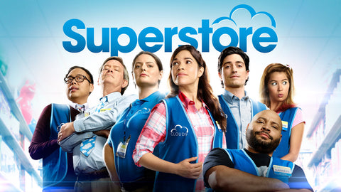 """Poster for """"Superstore"""" featuring the cast"""