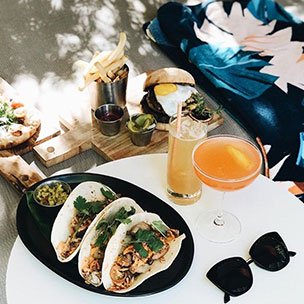 Poolside tacos and drinks