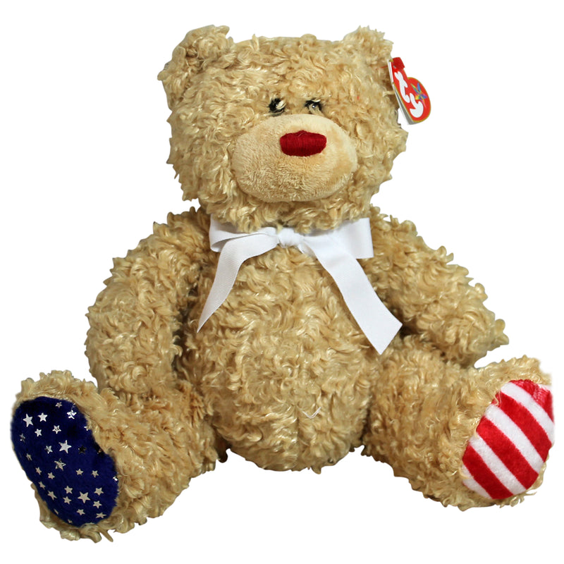 Ty Buddy: Independence the Bear- White Ribbon