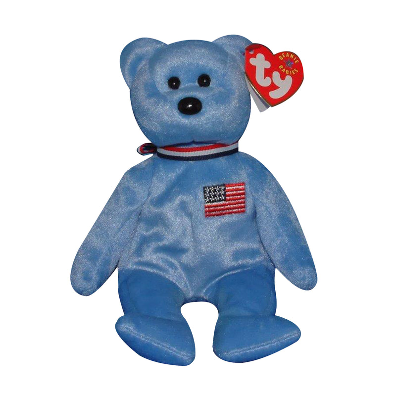 Ty Beanie Baby: America the Bear- Blue
