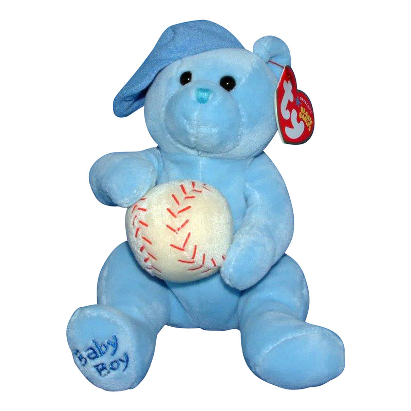 Ty Beanie Baby: Baby Boy the Bear - with baseball