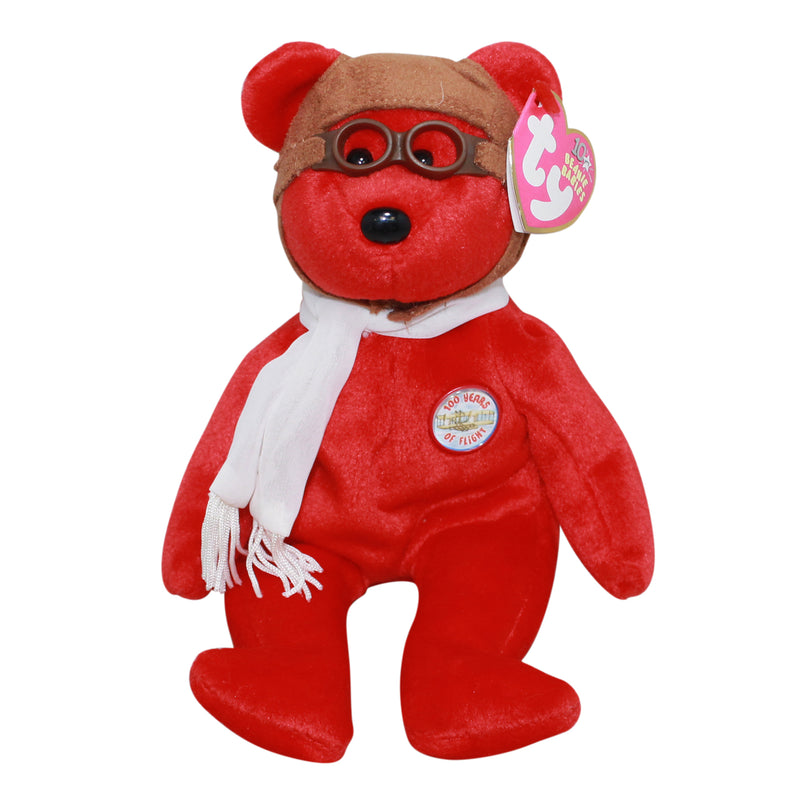 Ty Beanie Baby: Bearon the red Bear