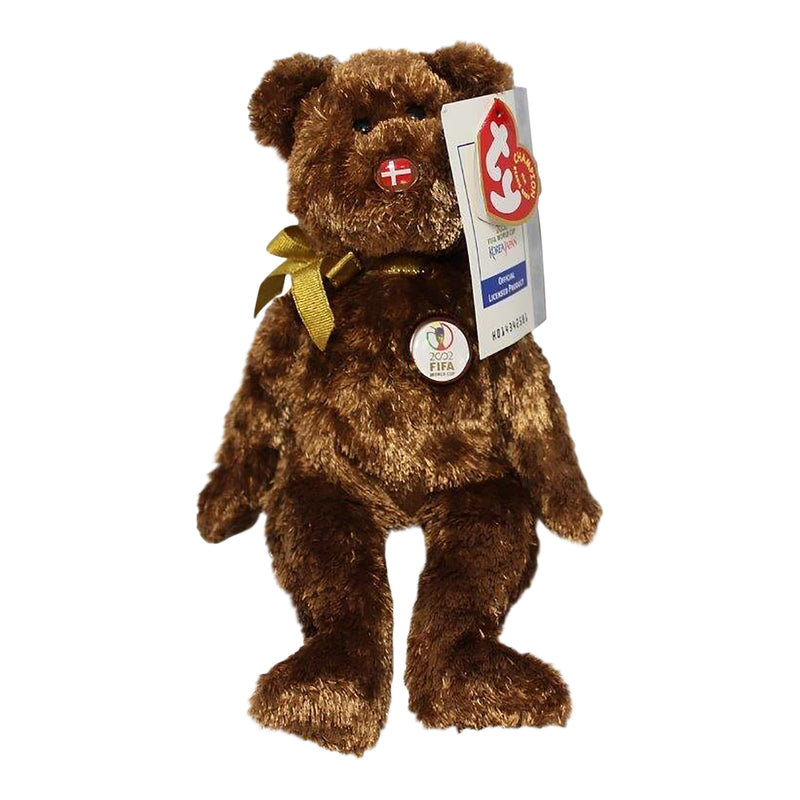 Ty Beanie Baby: Champion Denmark FIFA World Cup Bear