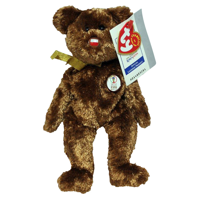 Ty Beanie Baby: Champion Poland FIFA World Cup Bear