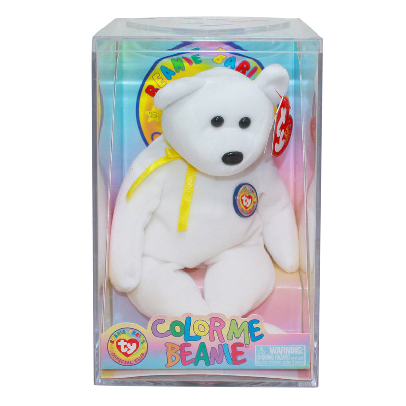Ty Beanie Baby: Color me Beanie - Birthday Bear Kit - Yellow Ribbon