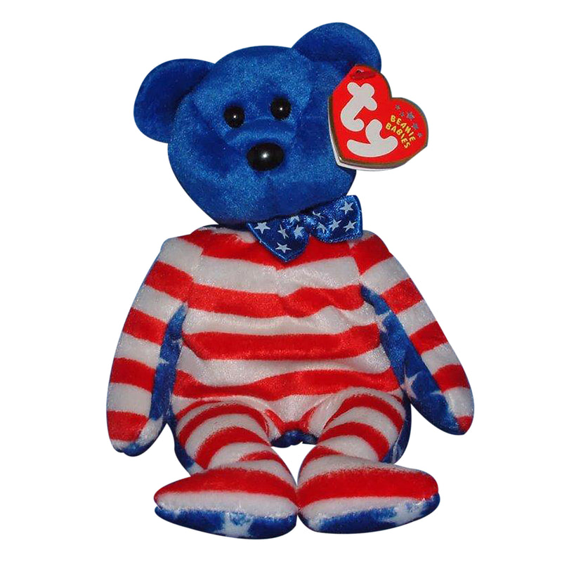 Ty Beanie Baby: Liberty the Bear - Blue