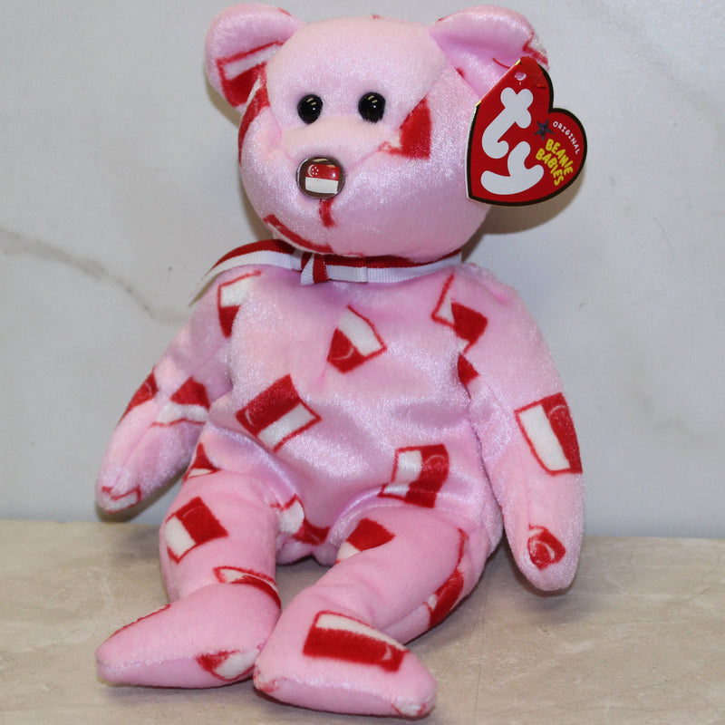 Ty Beanie Baby: Maju the Bear Flag Nose - Singapore Exclusive