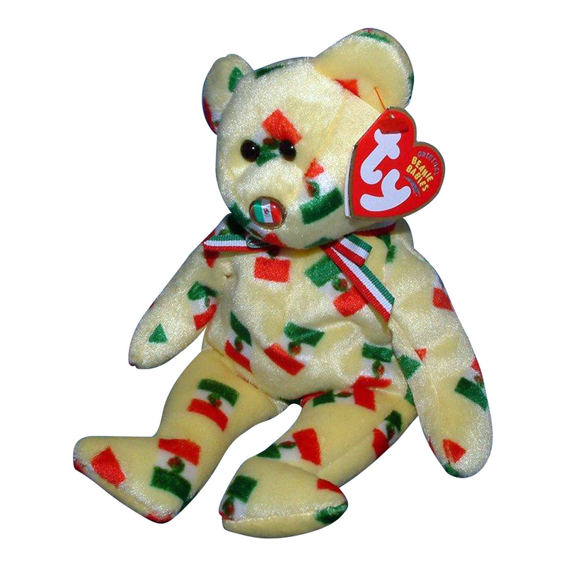 Ty Beanie Baby: Pinata the Bear - Flag Nose