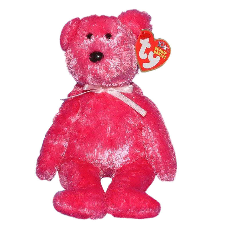 Ty Beanie Baby: Sherbet the Bear - Hot Pink