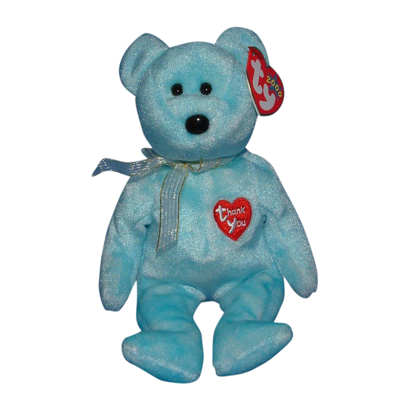 Ty Beanie Baby: Thank You the Bear the Bear - Blue