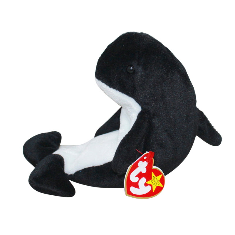 Ty Beanie Baby: Waves the Orca Whale