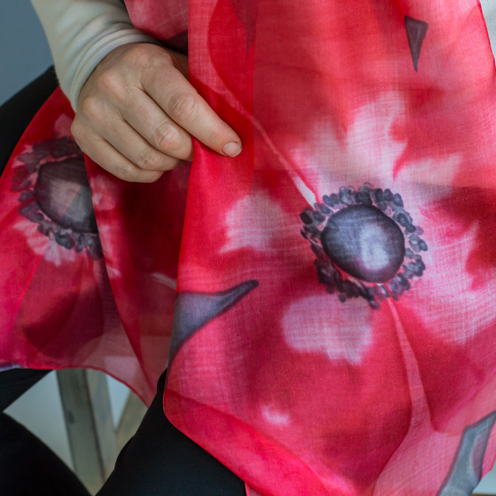 Big Flower Premium Scarf