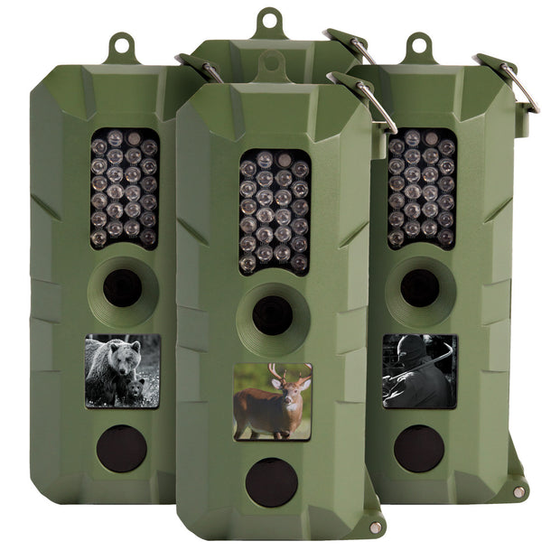 Bresser 5 Megapixel Game Camera - 4 Pack
