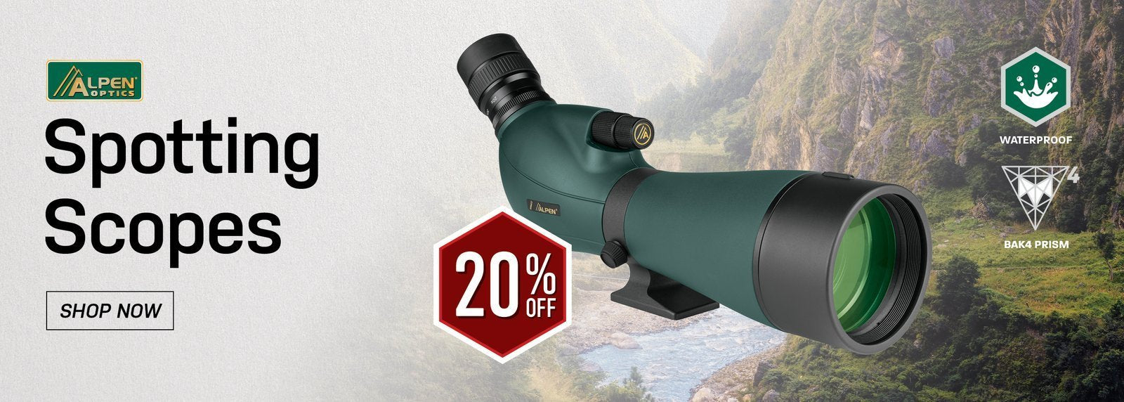 Alpen Spotting Scopes - 20% Off