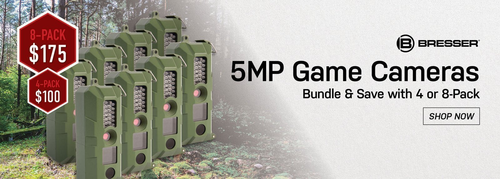 Bresser 5MP Game Cameras - Bundle & Save with 4 or 8-pack