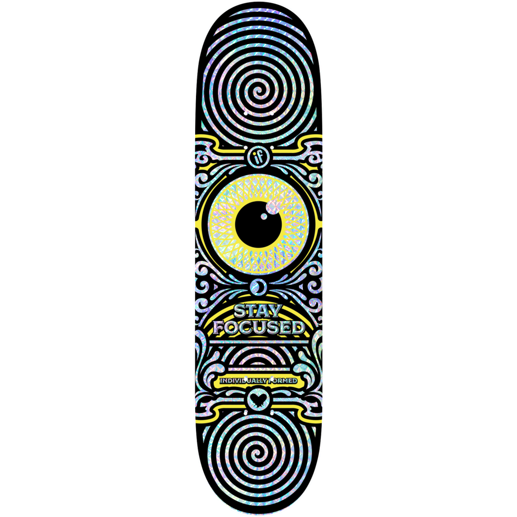IF SKATE CO -STAY FOCUSED - YELLOW - HOLOGRAPHIC