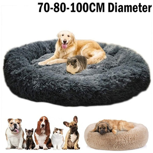 Round Plush Dog Beds
