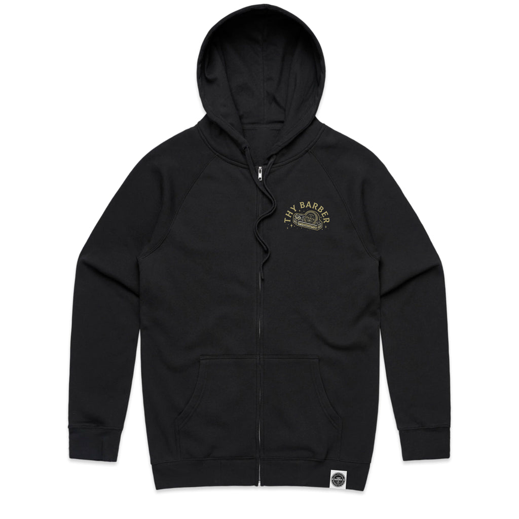 Slick Til Death Black Zip Up Hoodie