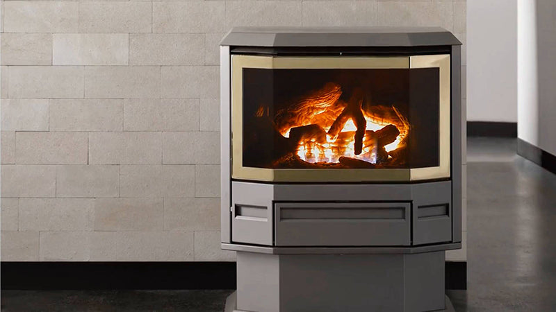 The Archer Gas Log Fire Space Heater