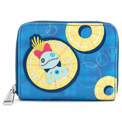 LOUNGEFLY X DISNEY LILO AND STITCH PINEAPPLE FLOATY SCRUMP ZIP AROUND WALLET