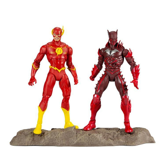 Dark Nights: Metal DC Multiverse Earth Red Death Batman vs The Flash Two-Pack
