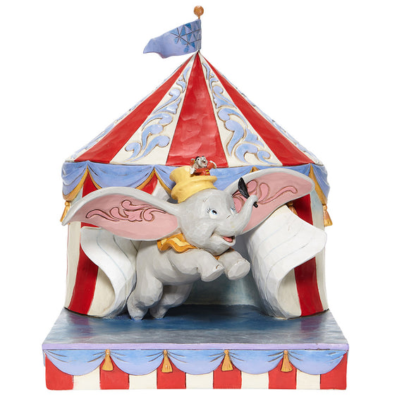 Enesco Dumbo Flying out of Tent Scene