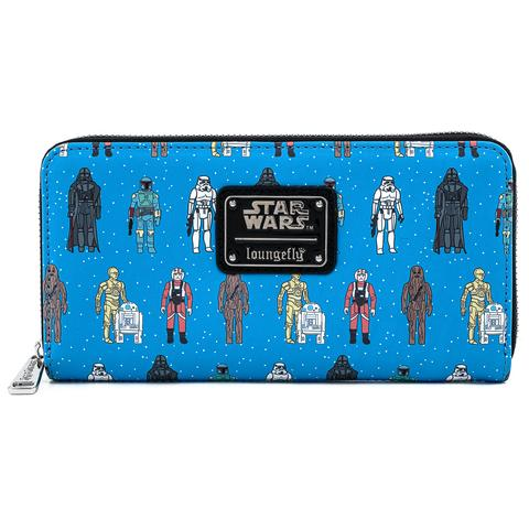 STAR WARS ACTION FIGURES AOP ZIP AROUND WALLET