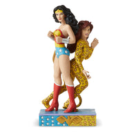 Enesco DC Comics by Jim Shore Wonder Woman and Cheetah Figurine by Enesco