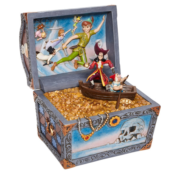 Enesco Peter Pan Treasure Chest Scene