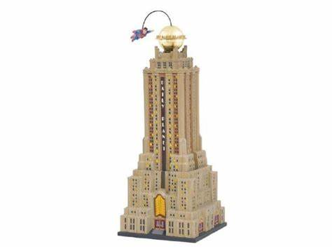 Department 56 The Daily Planet building with SUPERMAN