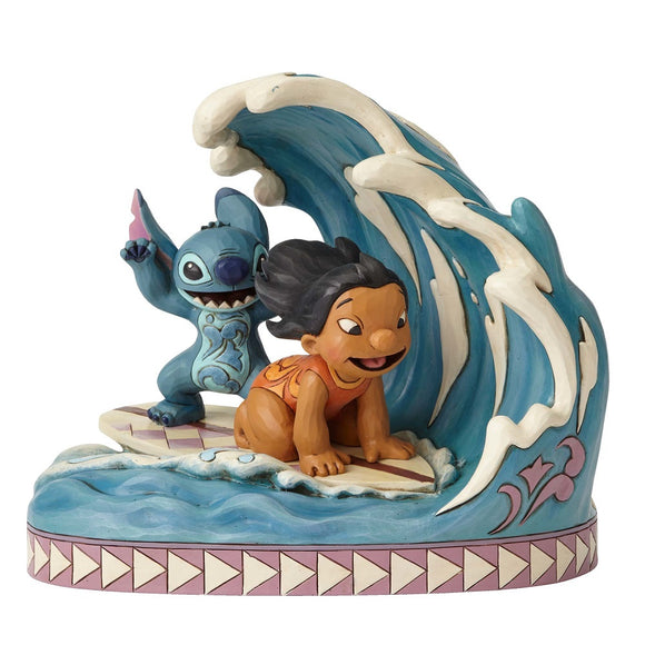 Lilo and Stitch Riding Wave Disney Traditions