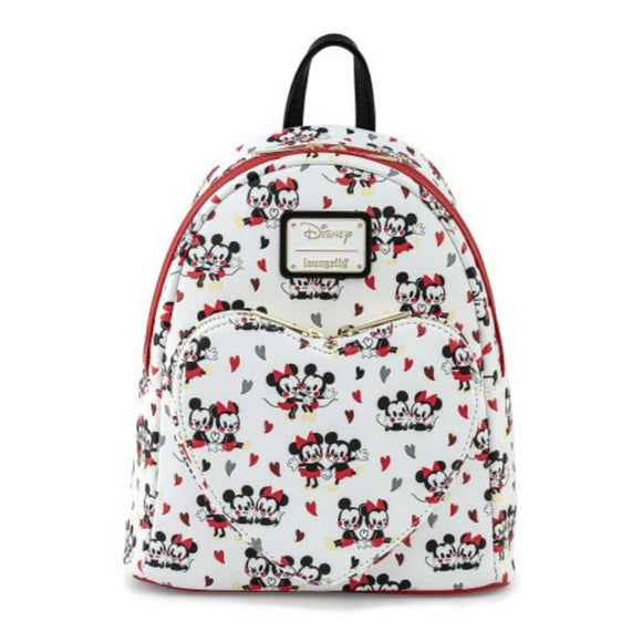 Loungefly Disney Mickey And Minnie Mouse Hearts Mini Backpack