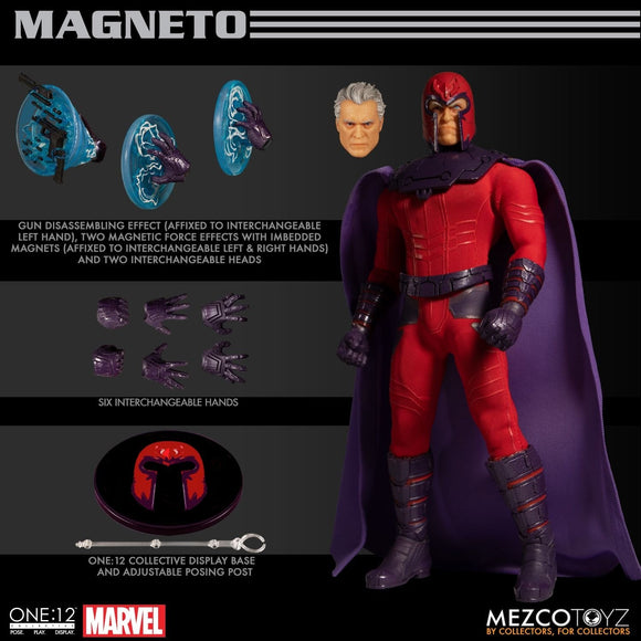 Mezco Toyz One:12 Collective Marvel Comics Magneto Action Figure