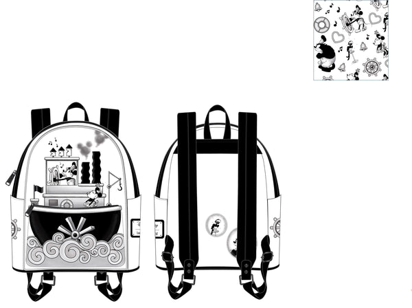 PRE-ORDER Loungefly Steamboat Willie Mini Backpack