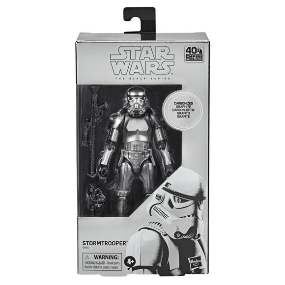 Star Wars The Black Series Carbonized Stormtrooper 6-Inch Action Figure,