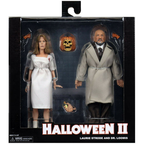 Halloween 2 Laurie Strode and Dr. Loomis 2 Pack Neca