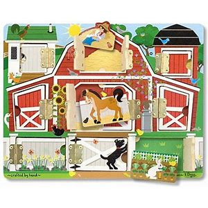Melissa and Doug Wooden Magnetic Hide and Seek Farm