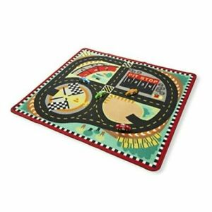 Melissa and Doug Round the Speedway Race Track Rug