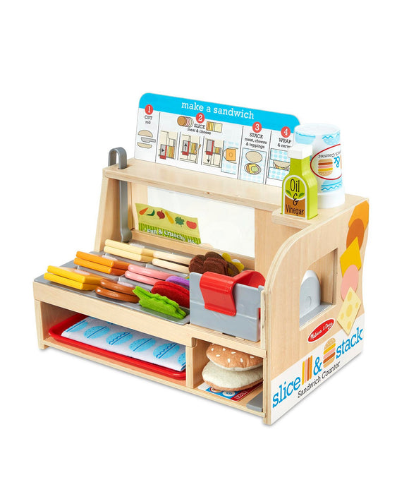 Melissa and Doug Wooden Slice and Stack Sandwich Counter