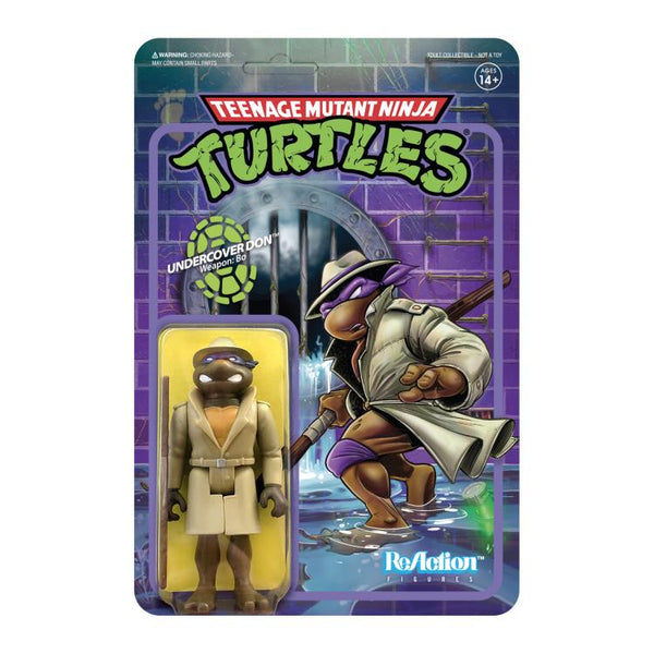 Super7 ReAction Teenage Mutant Ninja Turtles Undercover Donatello 3.75 Inch Action Figure