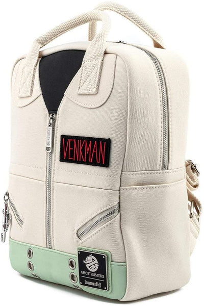 Loungefly Ghostbusters Venkman Cosplay Square Canvas Womens Double Strap Shoulder Bag Purse