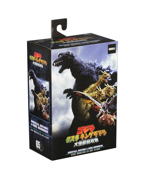 Godzilla, Mothra, and King Ghidorah Giant Monsters All-Out Attack Figure by Neca