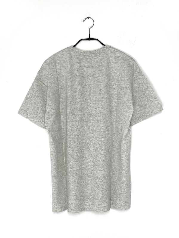 Seamless Crew Neck T-Shirt Top Gray
